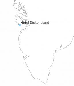 Hotel Disko Island kort