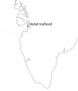 Hotel Icefiord kort