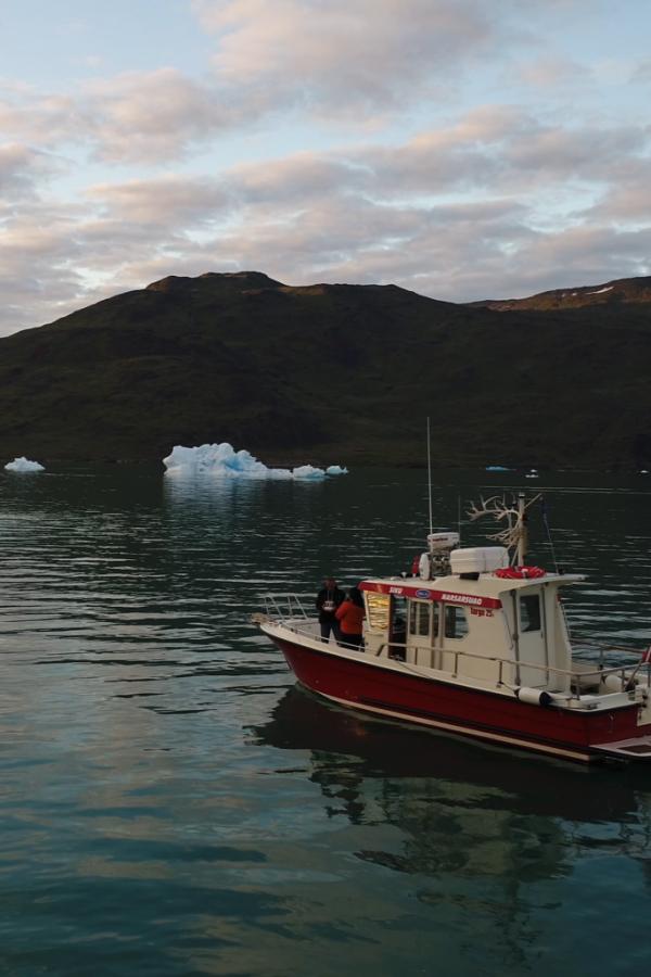 Skib og isbjerg